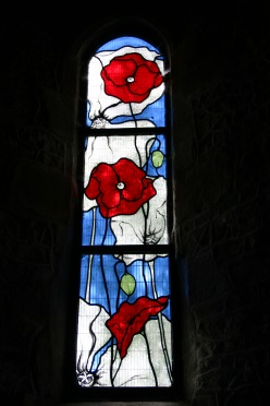 Stained Glass Remembrance Day Poppies.