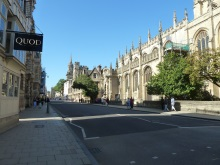 Oxford High Street with Carfax Tower at focal point