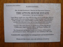 NT Upton House Sale
